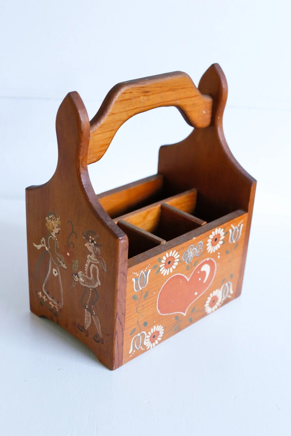 Wood Heart Craft Caddy From The  S