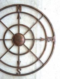 42 Compass Metal Compass Nautical Decor Metal Compass