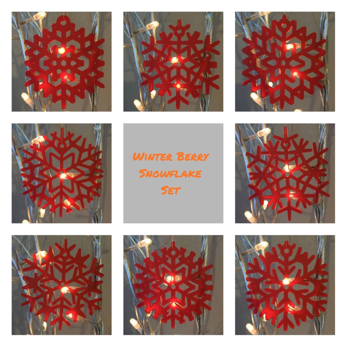 Winter Berry Snowflake Ch...