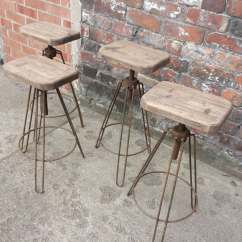 Steel Chair Size Bathtub Baby Industrial Hair Pin Leg Stool Adjustable Height