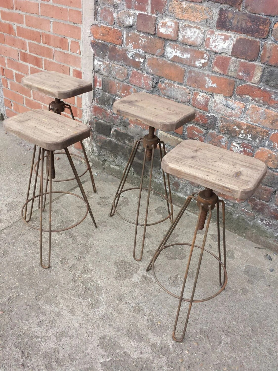 Hairpin Leg Chair Industrial Hair Pin Leg Stool Adjustable Height Steel