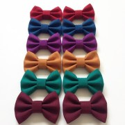 tiny jewel tone hair bows fabric