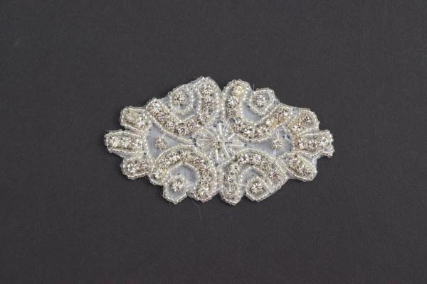 Crystal Rhinestone Applique Bridal Trim