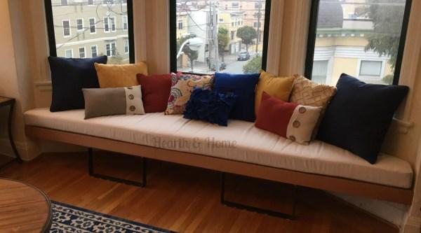 Trapezoid Cushion Custom Bay Window Seat