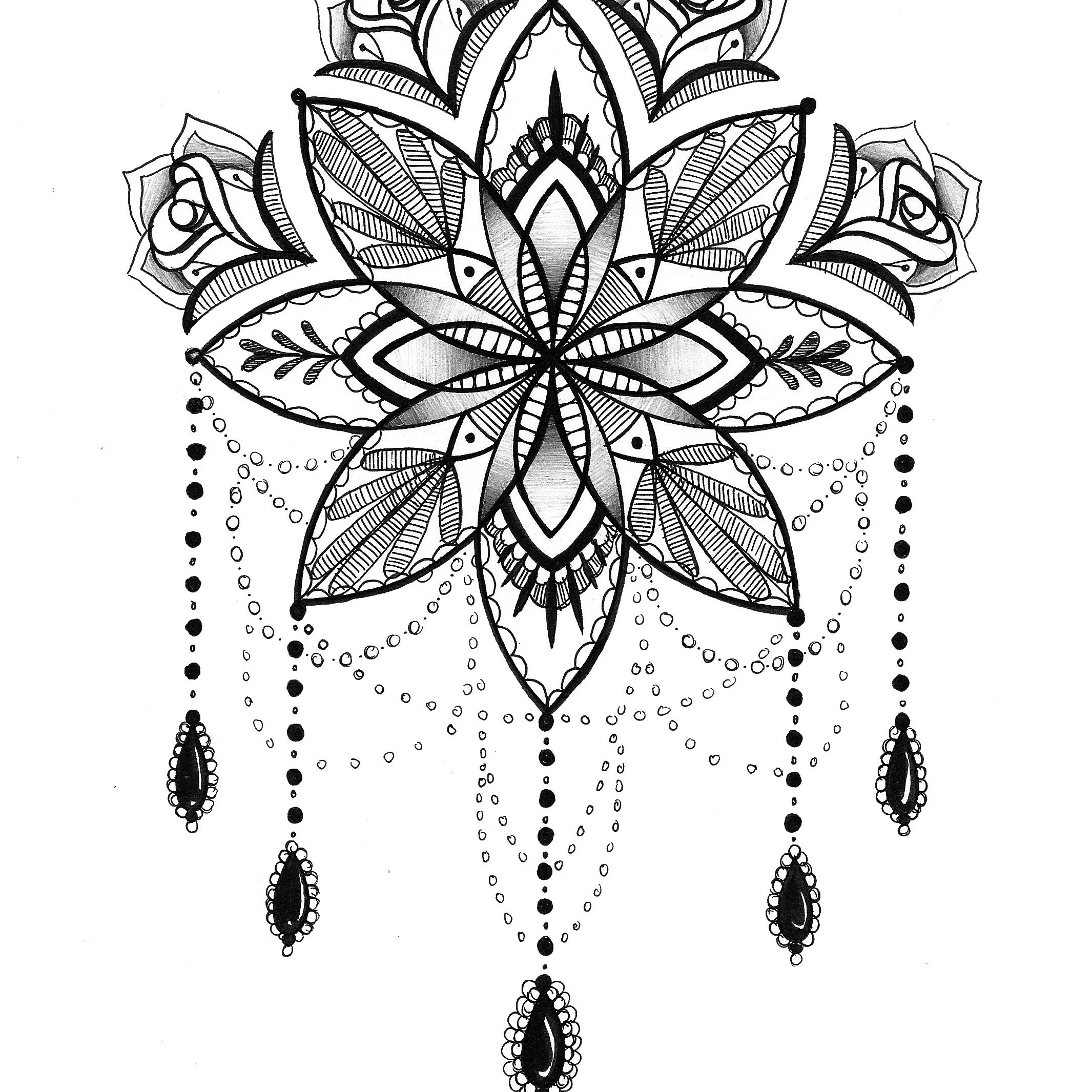 Adult Coloring Books Printable Pages and von RobinElizabethArt