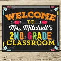 Classroom Welcome Sign Classroom Sign Classroom Decor