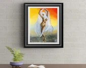Dance and Enjoyment Signed Art Print of Signature Original By Rafi Perez