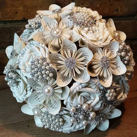 Items similar to Paper Bouquet Custom wedding kusudama