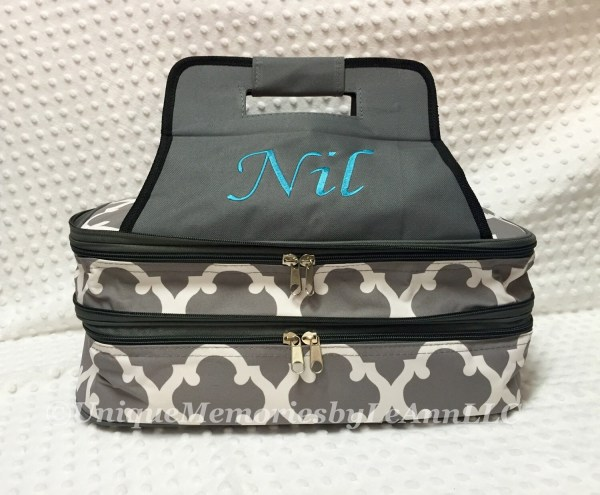 Geometric Quatrefoil Casserole Carrier Insulated With Double