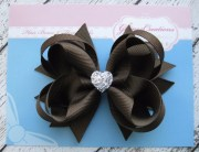 girls hair bow brown boutique
