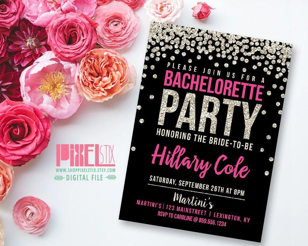 bachelorette invite template