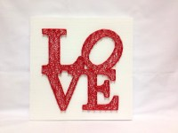 String Art Love Wall Art Love Sign Home Decor Wall Decor