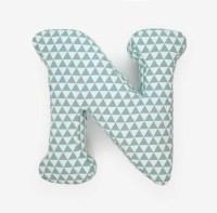 Alphabet Pillow Letter N Alphabet Pillows Initials Letter