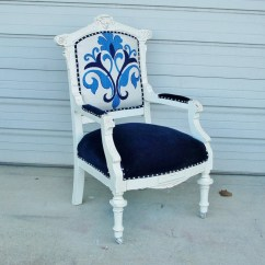 Eastlake Victorian Parlor Chairs See Through Antique Chair Reupholstered And Milk