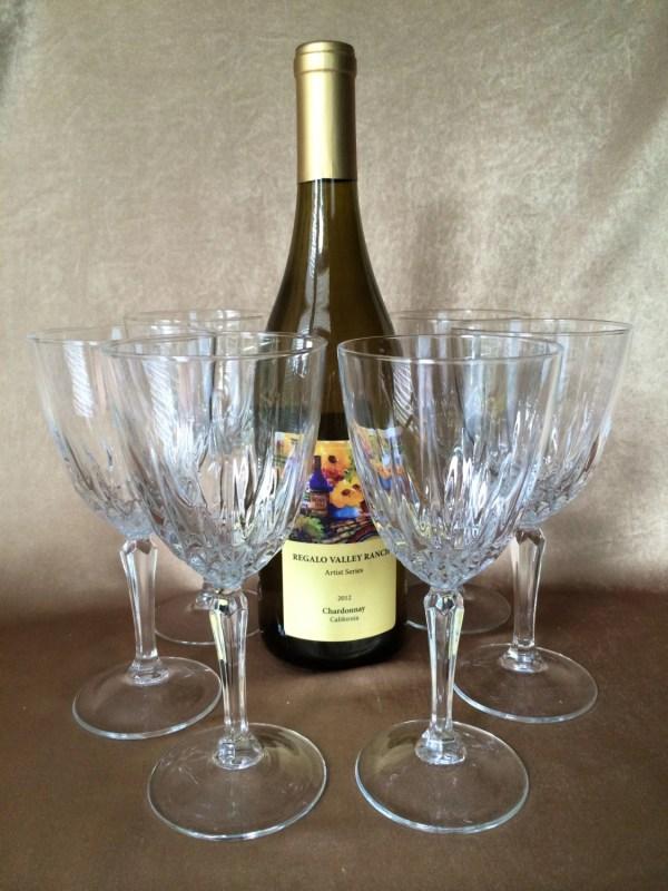 Crystal Wine Glass Vintage Luminarc Diamante 'arques