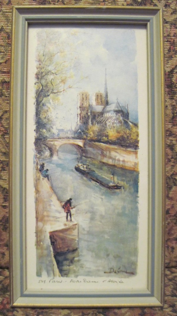 Lucien Delarue Art Print 548 Paris Matted And Framed