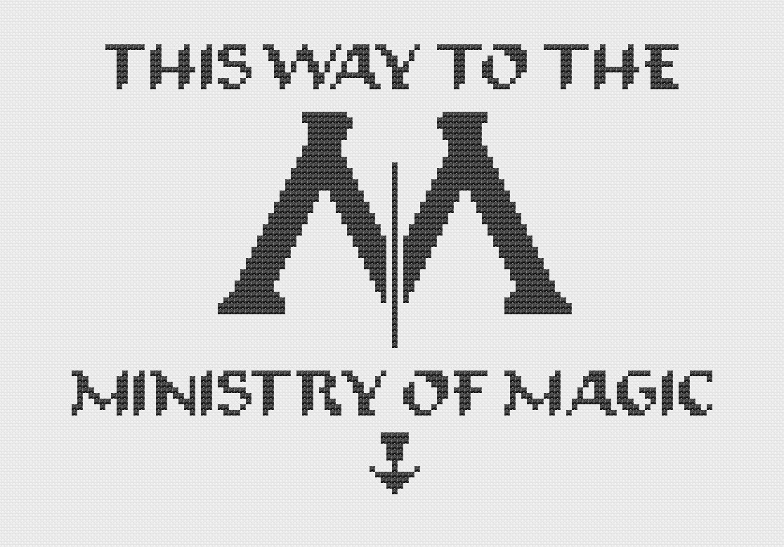 This Way To Ministry Of Magic Cross Stitch by PatronusStitch