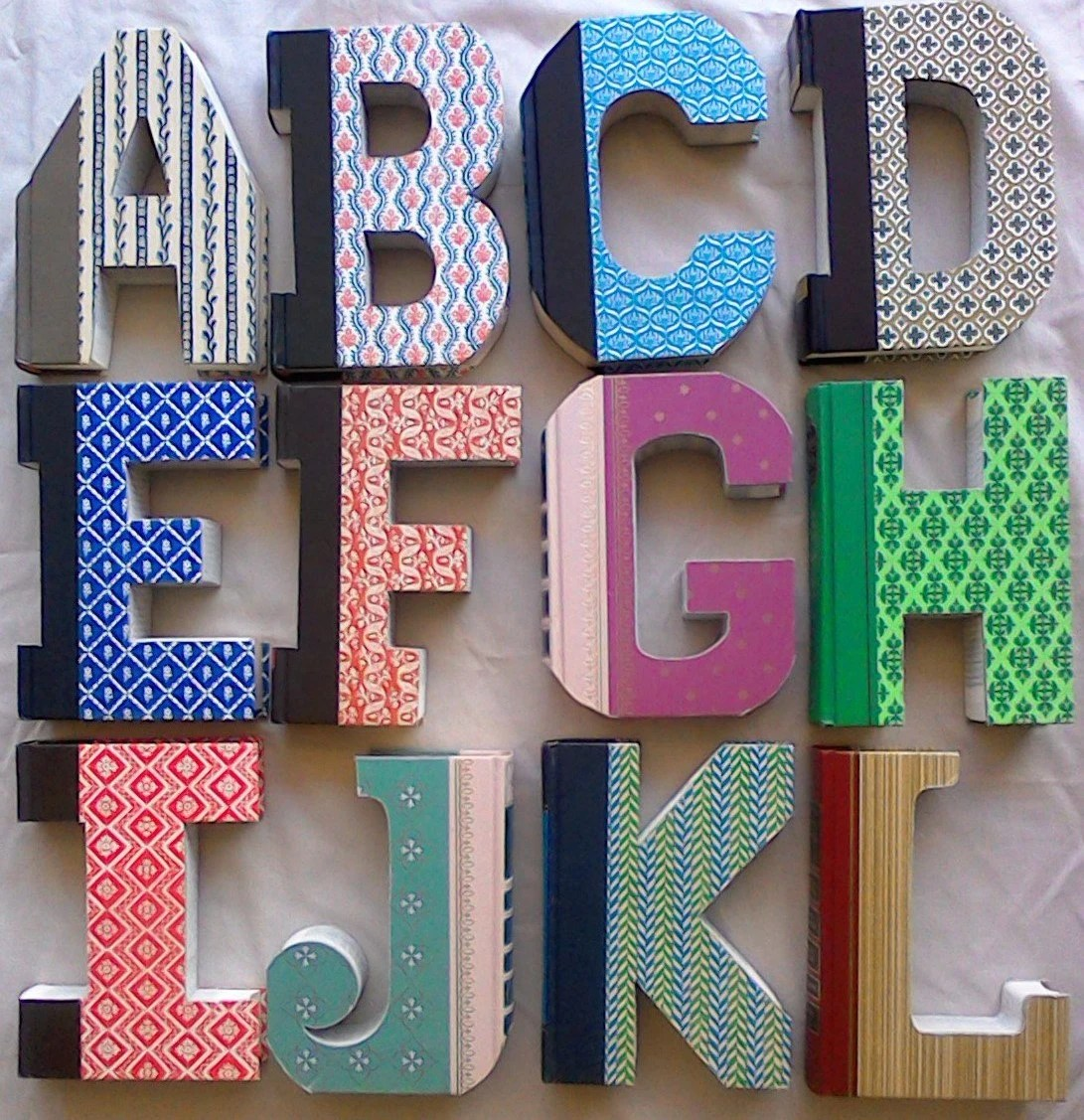 Book Letters A 326 Ady Made Letter Cut Letter By