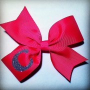 personalized hair bow inital