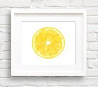 Lemon Art Print Kitchen Art Wall Decor Watercolor
