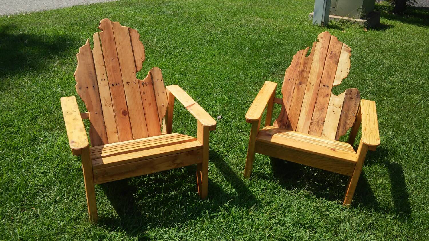 michigan adirondack chair beanless bag by backwoodcreations22 on etsy