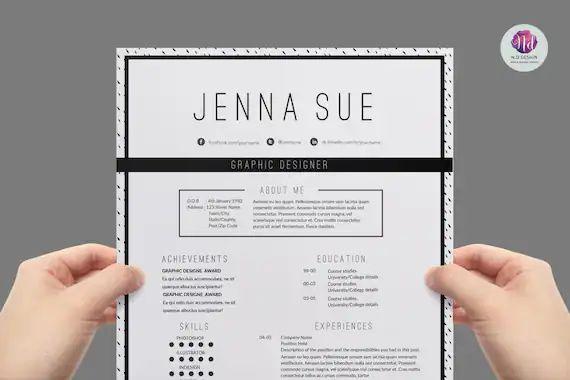 etsy modern resume