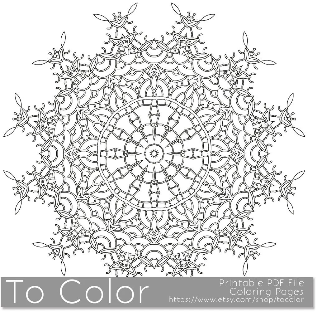 Items similar to Printable Coloring Pages for Adults