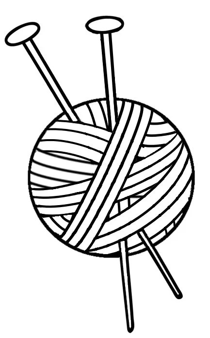 Knitting Vinyl Decal Yarn With Needles Yarn Vinyl Decal