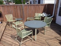 Jordan Brown Tamiami Vintage Patio Furniture Set 8 Pieces