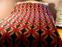 Full Queen Flannel Sheet set native American Indian Blanket