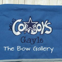 Dallas Cowboys Chair Cover Dining Room Table And Chairs With Bench Custom Folding By Thebowgallery1 On Etsy