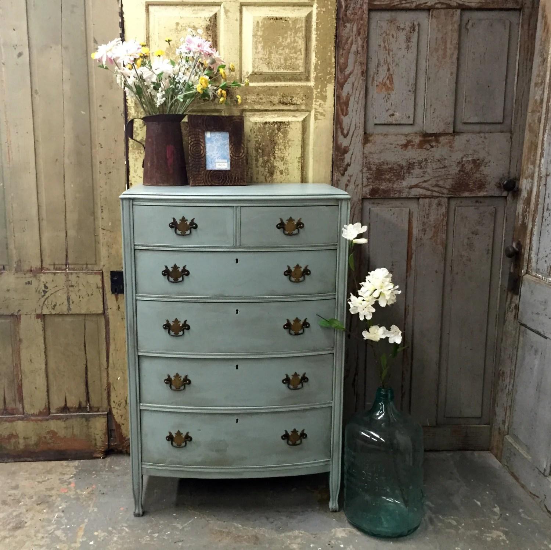 Blue Dresser Vintage Tall Dresser Unique Bedroom Furniture