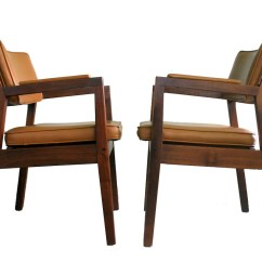 Mid Century Modern Side Chair Stools With Backs Walnut Chairs Gunlocke Style Solid