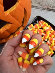 candy corn nails fake halloween