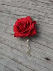 wedding flower hair clip-real touch