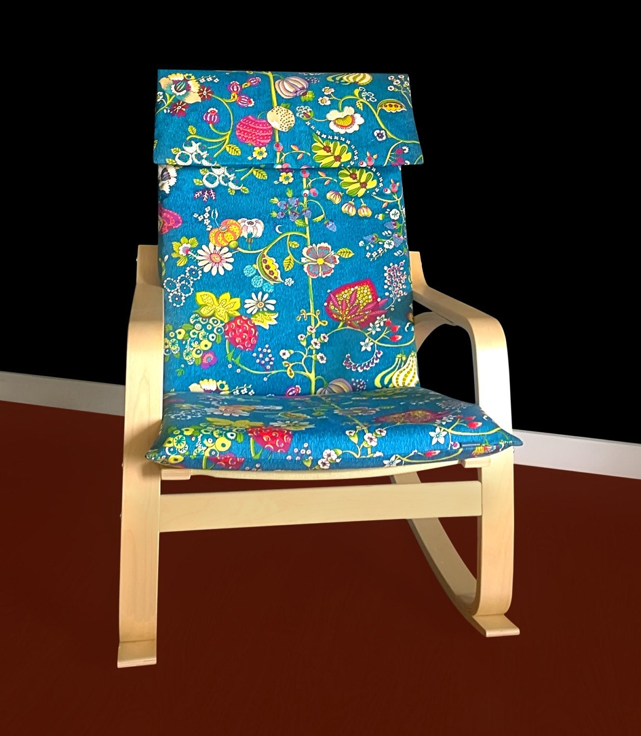 ikea poang chair review cheap sashes wholesale flowers cover customized flower print