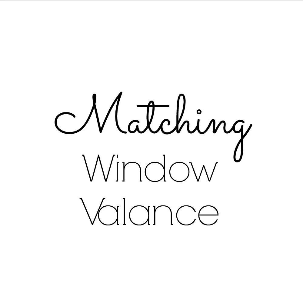 Items similar to Custom Window Valance 50wx15L Curtain