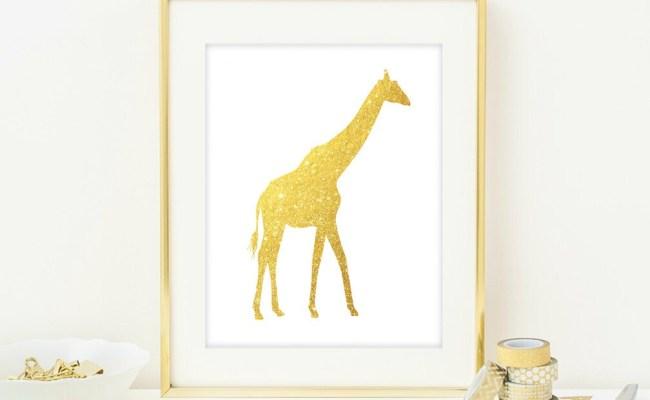 Giraffe Wall Art Print Modern Chic Home Decor By Quantumprints