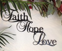 Metal wall art Faith Hope Love by CraftedMetalArt on Etsy