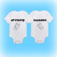 Funny Onesies Cute Onesies Twin Onesies Drinking