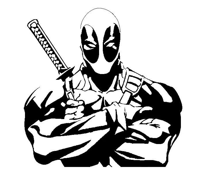 Marvel's DEADPOOL vinyl decal by TheDastardlyWombat on Etsy