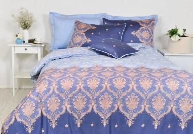 Navy Blue Damask Bedding