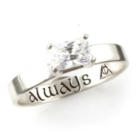 Wizard Ring Geeky Engagement Ring Sterling Silver and