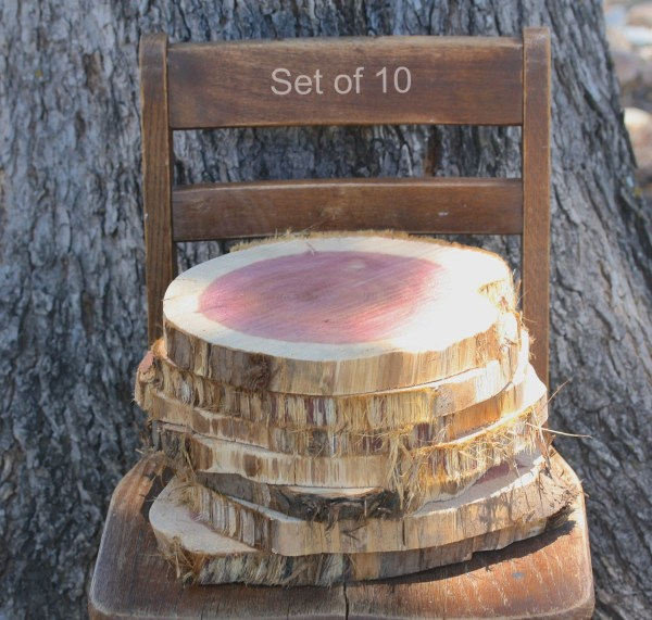 Rustic Wood Chargers Set Of 10 11 Appox