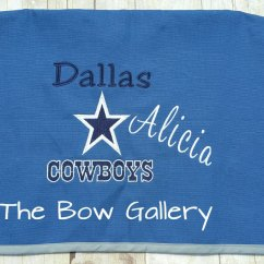 Dallas Cowboys Chair Cover Fox Fishing Spares Custom Folding By Thebowgallery1 On Etsy