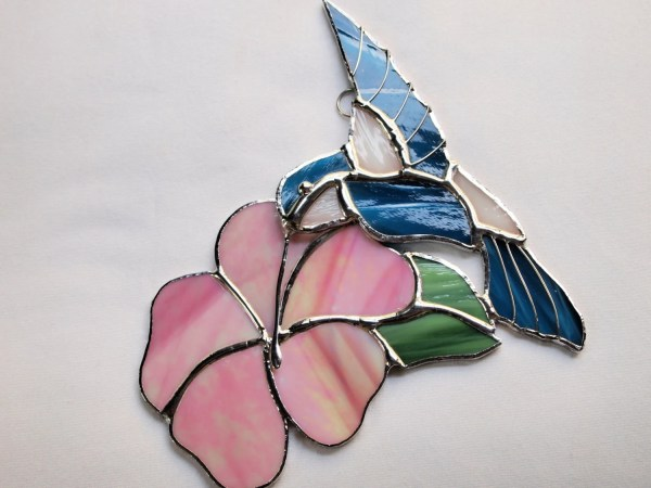 Stained Glass Hummingbird Suncatcher Glassofdistinction