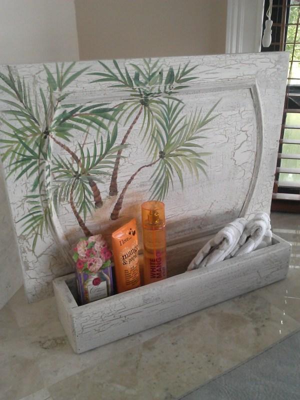 Coastal Decor Palm Tree Wall Art Vintage