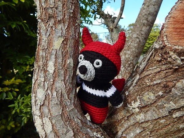 Amigurumi Crochet Pattern Tasmanian Devil In Costume