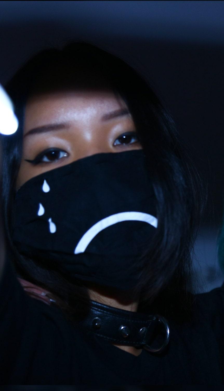 Huf Wallpaper Girl Sad Doctor Flu Mask Dust Kawaii Ninja Tokyo Tear Frown