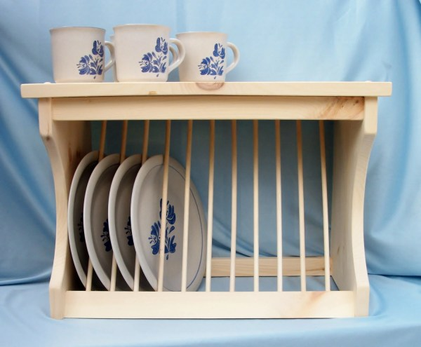 Plate Rack for Counter or Wall by OldYankeeWorkshop on Etsy